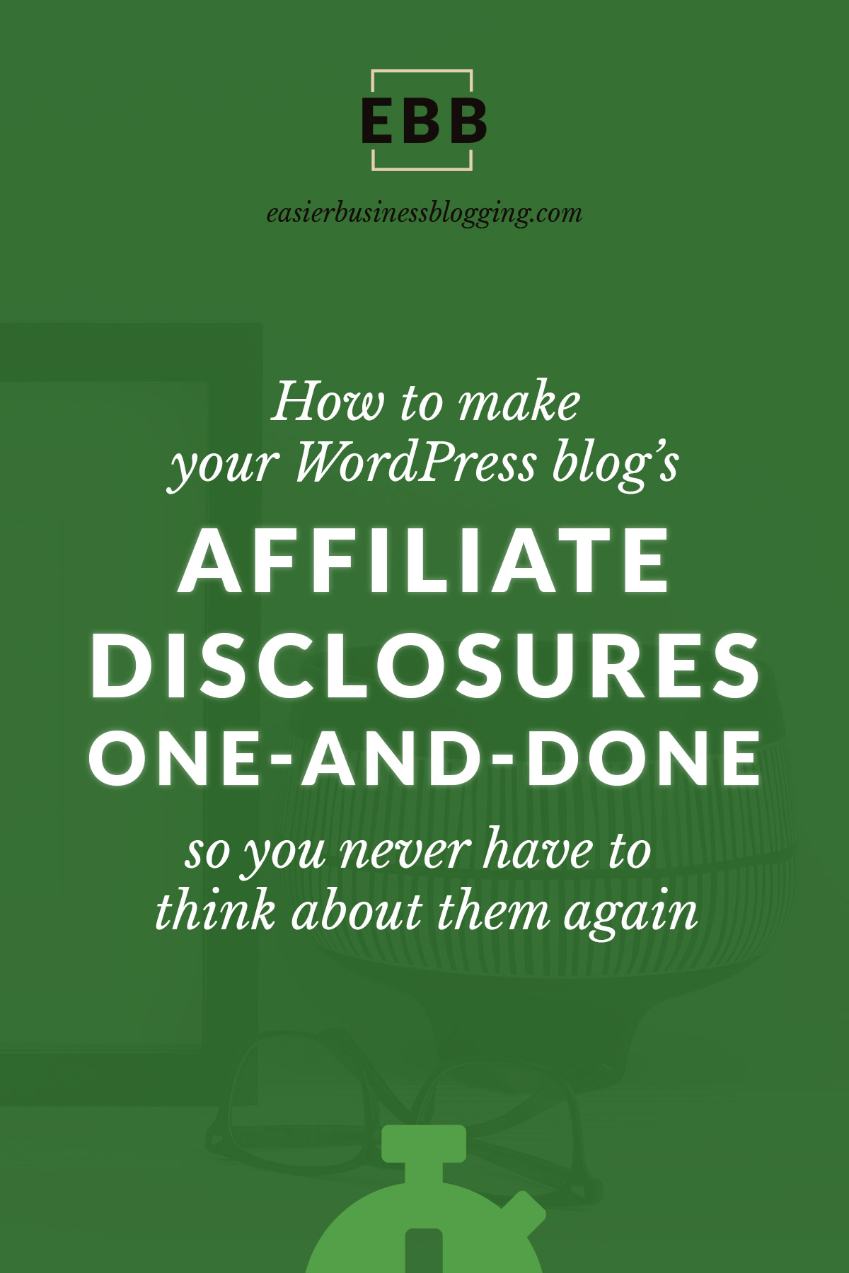 Want to simplify affiliate marketing on your WordPress blog? Learn how you can set up your blog's affiliate disclosure one time and re-use it on each post without copy and pasting. Such a time saver!